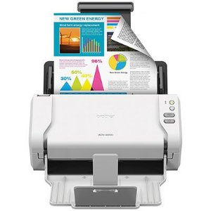 ADS2200 - Scanner Brother ADS-2200 Preto e Colorido 35PPM / 70IPM