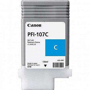 Original PFI-107C Cartucho de Tinta Canon Ciano 130ml