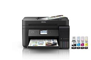 L6191 Multifuncional Tanque de Tinta Epson Ecotank Imprime Copia Scanner Fax WiFi e Ethernet