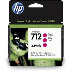 Original 712 3ED78A Kit Com 3Cartuchos HP Magenta 29ml cada