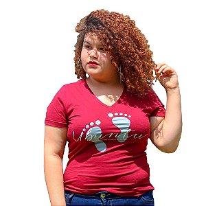 Camiseta Feminina Ubuntu Marsala