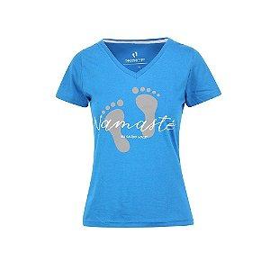 Camiseta Feminina Namaste Azul