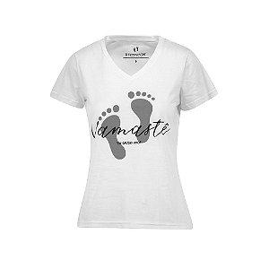 Camiseta Feminina Namaste Branca