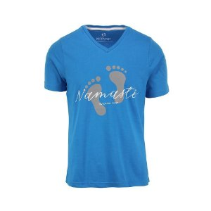 Camiseta Masculina Namastê Azul
