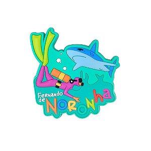 Imã emborrachado alto-relevo Mergulhador - Noronha