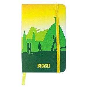 Caderninho de anotações tipo Moleskine - Brasil