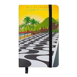 Caderninho de anotações tipo Moleskine calçadão de Copacabana - Rio de Janeiro