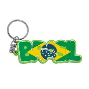 Chaveiro emborrachado Brasil Escrito - Brasil