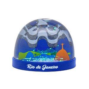 Globo de neve plástico / azul - Rio de Janeiro