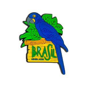 Imã de geladeira arara azul - Brasil
