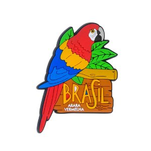 Imã de geladeira arara vermelha - Brasil