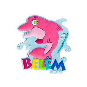 Imã de geladeira Boto cor-de-rosa - Belém