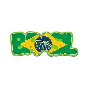Imã de geladeira emborrachado escrito - Brasil