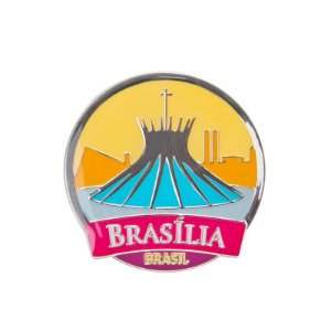 Imã de geladeira de metal catedral - Brasília