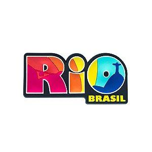 Imã de geladeira emborrachado escrito - Rio de Janeiro