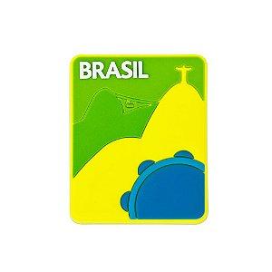Imã de geladeira emborrachado Rio samba - Brasil