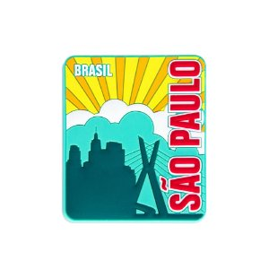 Imã de geladeira emborrachado sol - São Paulo