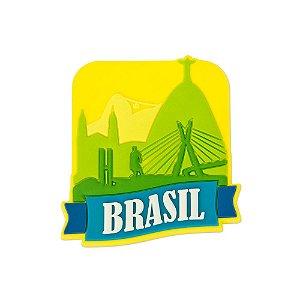 Imã de geladeira emborrachado turismo - Brasil