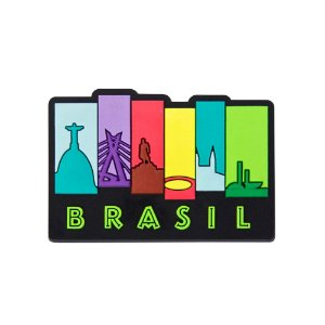 Imã de geladeira icones - Brasil