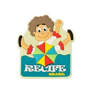 Imã de geladeira menino - Recife