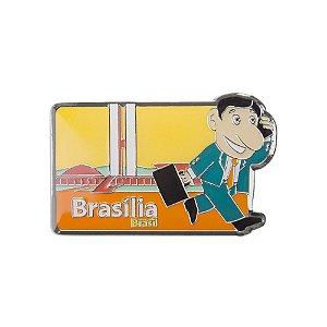 Imã de geladeira metal político 1 - Brasília