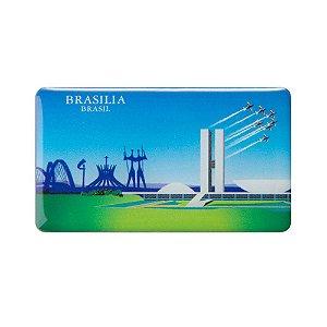 Imã de geladeira monumentos de Brasília