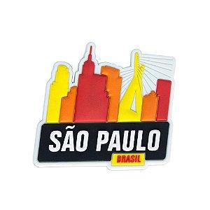 Imã de geladeira colorido - São Paulo