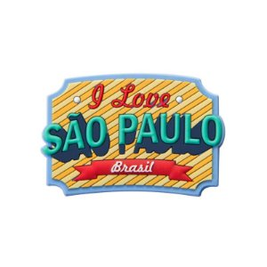 Imã de geladeira retrô - São Paulo
