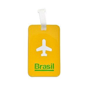 Identificador de bagagem PVC amarelo - Brasil