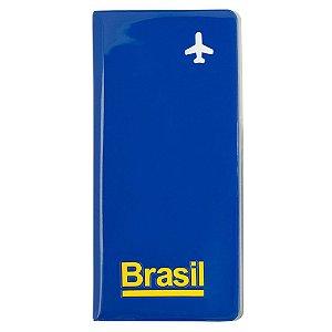 Porta-passaporte e voucher / azul - Brasil