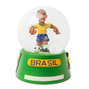 Globo de neve futebol com base verde - Brasil