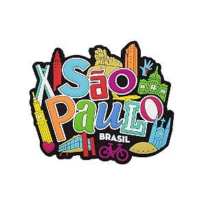 Imã de geladeira São Paulo ícones 2