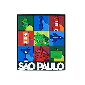 Imã de geladeira emborrachado ícones - São Paulo