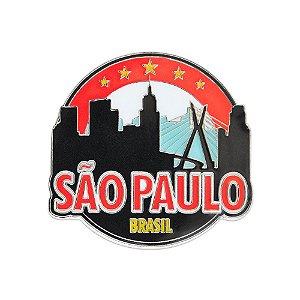 Imã de geladeira metal cidade - São Paulo