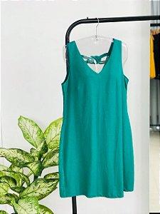 Vestido de Linho com Detalhe em corda