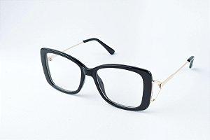 Armação Óculos de Grau - ref: Julie Black