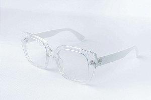 Armação Óculos de Grau Perla Prado - Londres Transparente