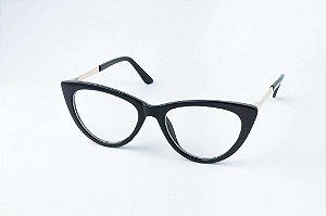 Armação Óculos de Grau Perla Prado - ref: Chile Black