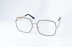 Armação Óculos de grau - ref: Luiza Black