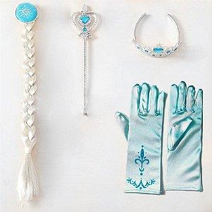 Kit acessórios Elsa Rainha da Neve Frozen Azul claro