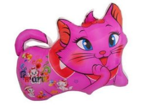 Balão Metalizado Gatinha Rosa Tam.26'' - 44 cm x 36cm