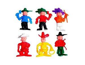 Mini Brinquedo Índio e Cowboy - 06 unidades