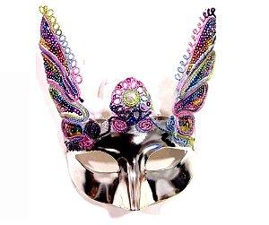 Máscara Carnaval Prata