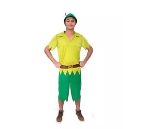Fantasia Adulto Peter Pan Tam G - Aluguel