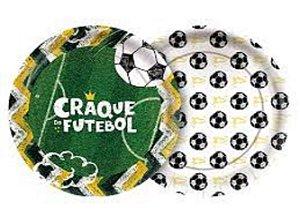 Prato 18cm Futebol 8 Unidades