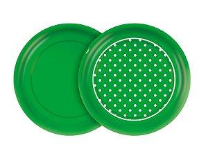 Prato 18cm Festa Colors Verde Poá 8 Unidades