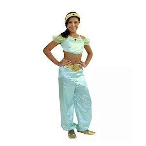 Fantasia Princesa Jasmine Aladin Infantil Tam G