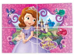 Painel 126cm x 88cm Princesa Sofia