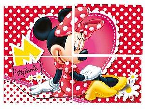 Painel 126cm x 88cm Red Minnie