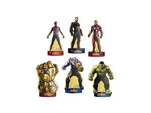 Decoração de Mesa Vingadores 3 - 6 Unidades